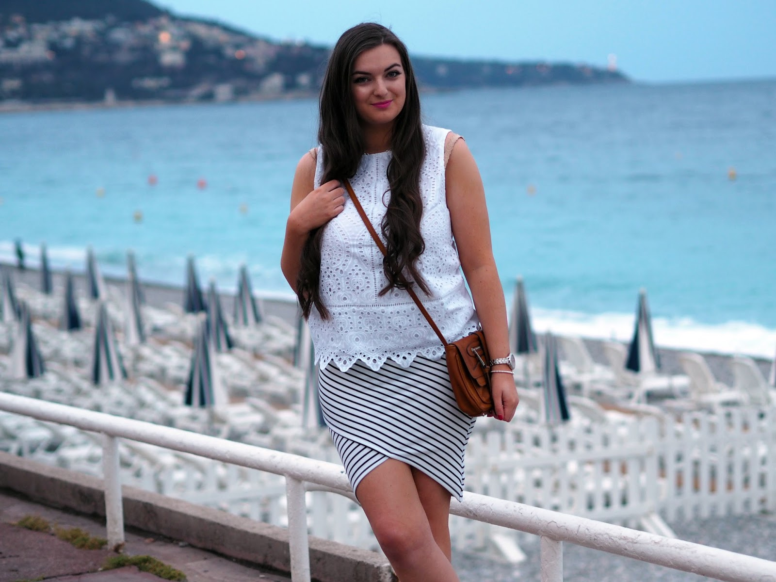 Sunset at Promenade Des Anglais Outfit - Rachel Nicole UK Blogger