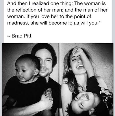 Brad Pitt about Angelina Jolie