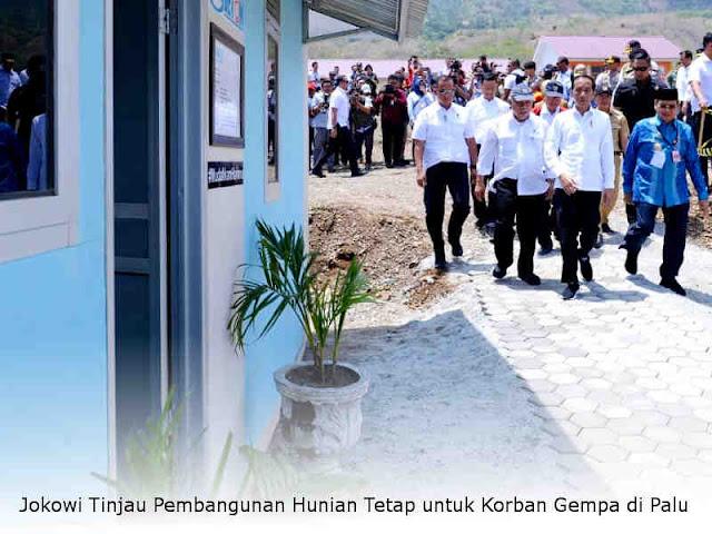 Jokowi Tinjau Pembangunan Hunian Tetap untuk Korban Gempa di Palu
