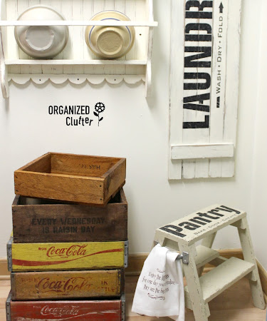 Up-cycled Pantry Stool