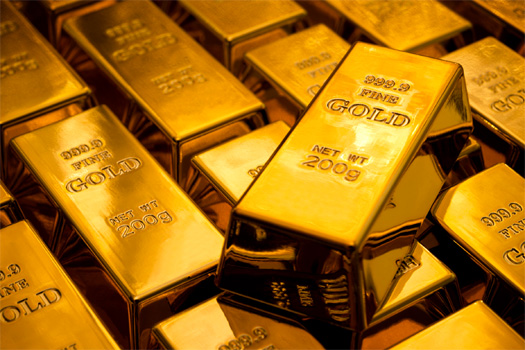 Gold Price Falls To Five Year Low