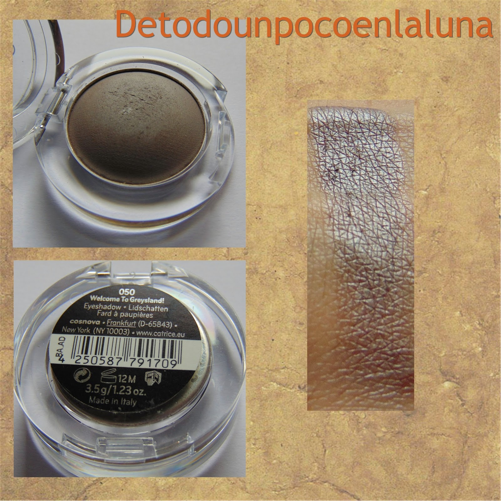050 Welcome to Greysland Sombras Velvet Matt Eyeshadow de Catrice