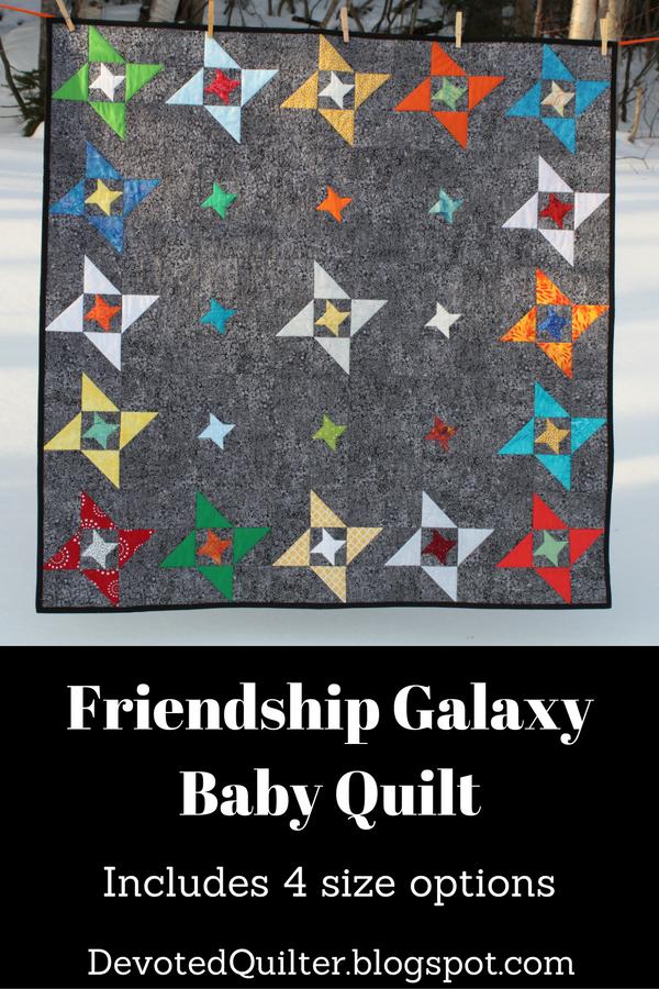 Friendship Galaxy Baby Quilt | DevotedQuilter.blogspot.com