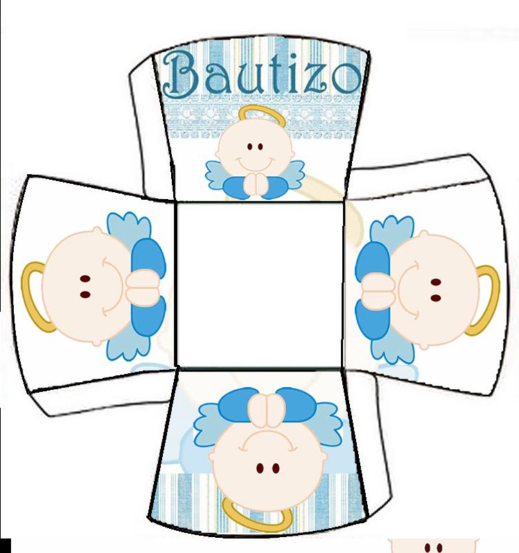 Kit para Bautizo de Niño con Angelito.   Oh My Bebé!