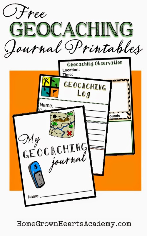 photo relating to Official Geocache Printable named Residence Developed Hearts Academy Homeschool Blog site: Geocaching For