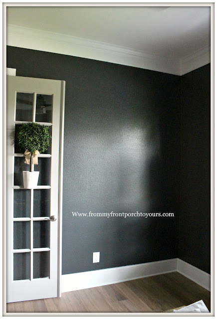 Home Office Makeover-DIY-New Paint-Sherwin Williams-Iron Ore-From My Front Porch To Yours