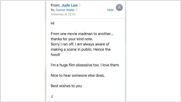Jude Law vai disfarçado a cinema e levanta suspeita de funcionários | Ordem da Fênix Brasileira