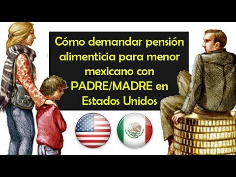 cómo demandar pensión alimenticia para menor mexicano con padre en