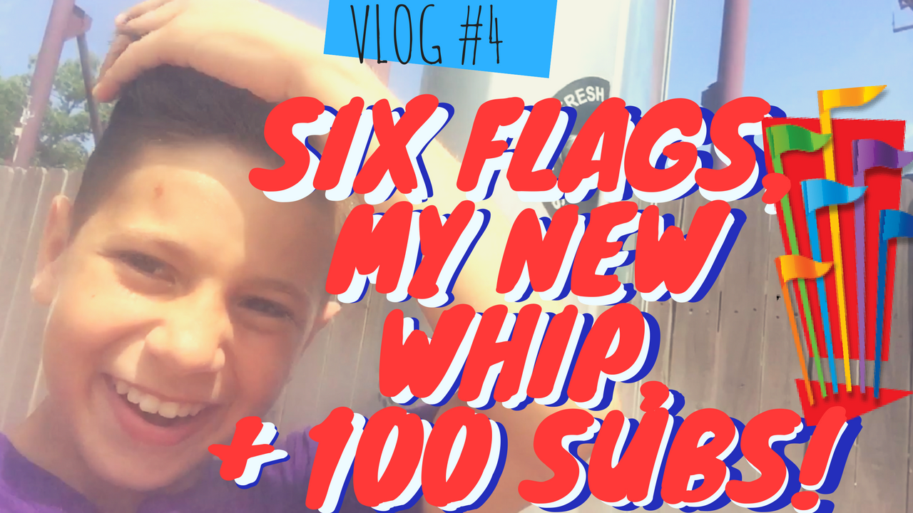 We hit 100 subscribers!!!!!!!! THANK YOU!! Six Flags Great Adventure with my camp, showing off my new whip + roasting toys because I was bored....hahaha
