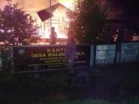 Kantor Desa Malinau Hulu Terbakar, Babinsa 0910-03 Amankan Situasi