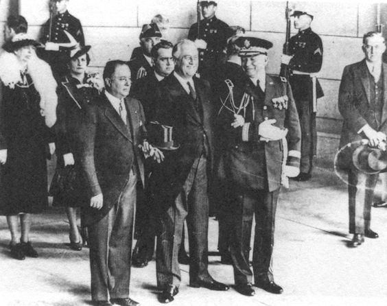 This is a picture of FDR with the Nicaraguan dictator in 1939. He had to visit or host many leaders from the region to ensure the Good Neighbor Policy would succeed for him.
