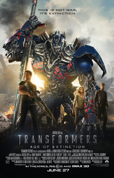 Poster of Transformers 4 Age of Extinction 2014 Hindi 720p BRRip Dual Audio Full Movie