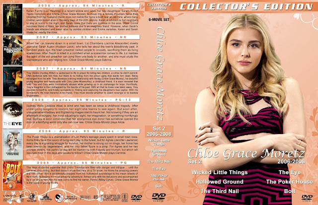 Chloe Grace Moretz Collection Set 2 Large Spine DVD Cover