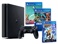 Playstation 4 PS4 Slim 1To PACK FAMILLE plus 5 jeux