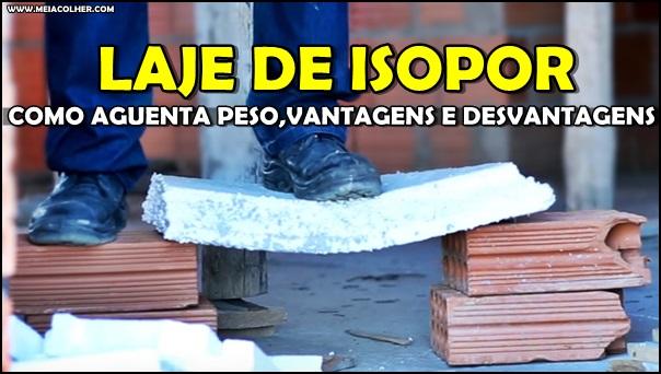 teste de carga da laje de isopor