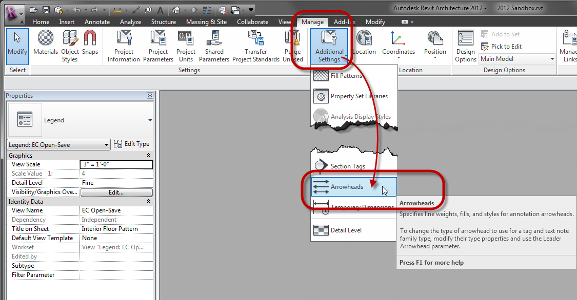 The Architect's Desktop: Revit: Creating a New Tick Mark Size