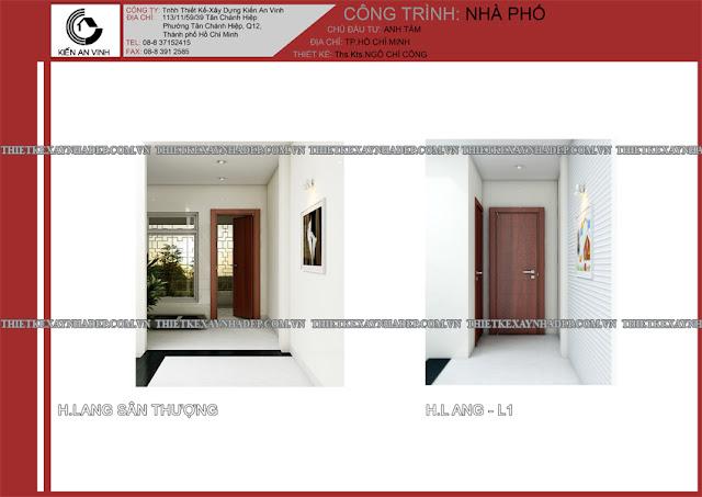 Mẫu thiết kế đẹp 2 tầng bán cổ điển mặt tiền 5m tại Long An Hanh-lang-san-thuong