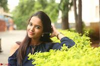Poojita Super Cute Smile in Blue Top black Trousers at Darsakudu press meet ~ Celebrities Galleries 083.JPG