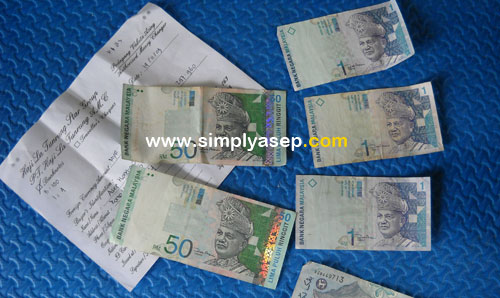 INGGIT :  Change your currency into Ringgit Malaysia in advance before departure to the country.   Photo Asep Haryono
