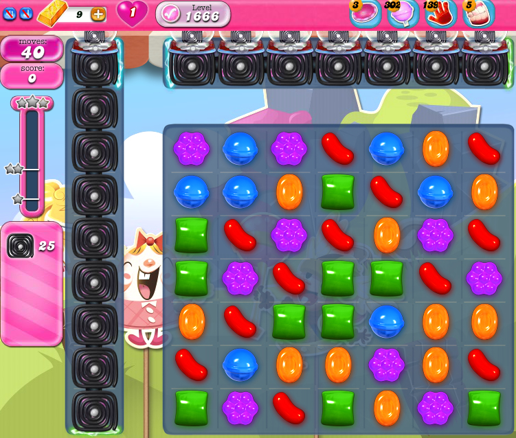 Candy Crush Saga 1666