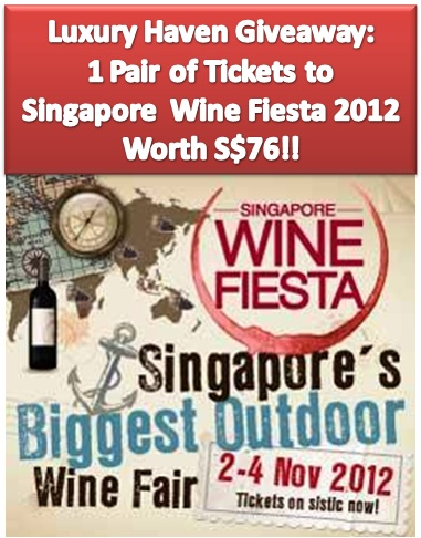 singapore wine fiesta 2012 giveaway, dbs indulge, straits wine company