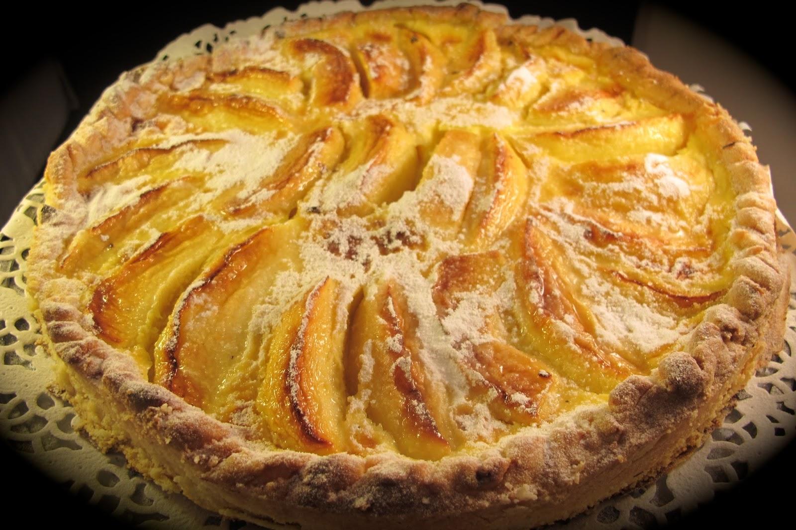 tarte aux pommes l 39 alsacienne le blog de cuisine en bouche. Black Bedroom Furniture Sets. Home Design Ideas