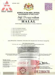 Tasly diiktiraf halal jakim
