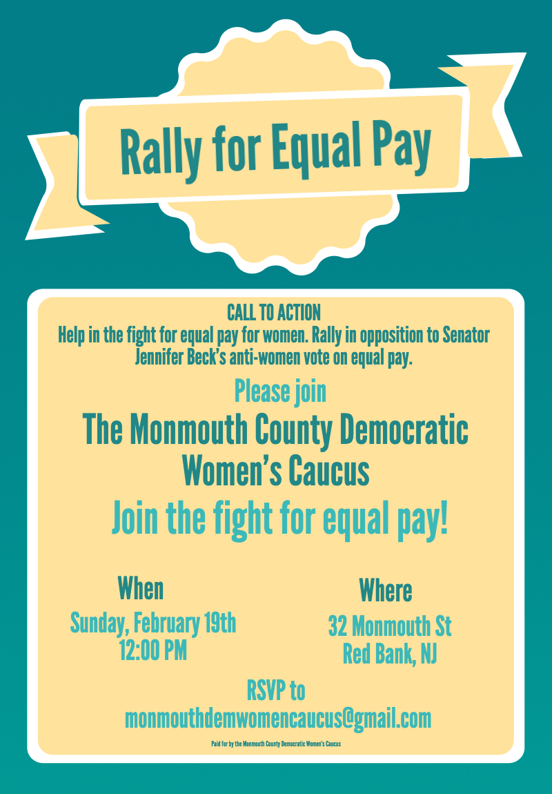 Middletownmike Equal Pay For Women Rally In Red Bank