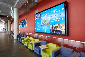Lobby with Flat Screen TV's