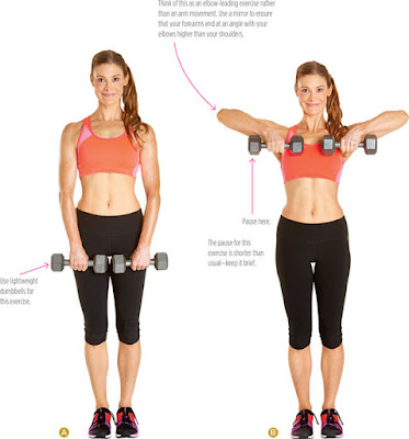 women's health - DUMBBELL UPRIGHT ROW