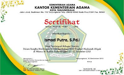 Sertifikat BIMTEK K13