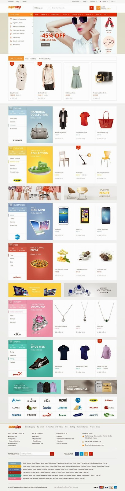 Best Responsive Multipurpose Prestashop Theme 2015