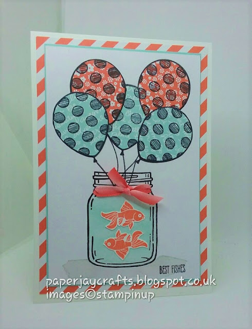 Paperjay Crafts, Stampin Up Balloon Adventures, Jars Of Love