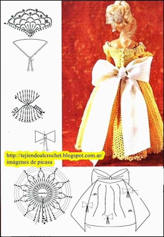 Increíble Crochet Patrón De Vestido De La Muñeca Foto - Ideas de ...