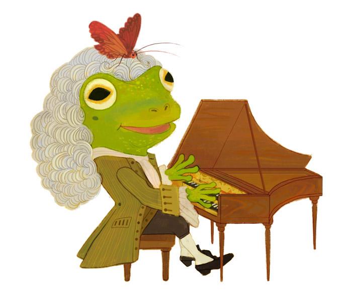 Frog Musician