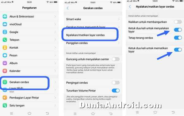 Ketuk 2 Kali Menghidupkan Dan Matikan Layar Hp Vivo Y71 Dunia Android