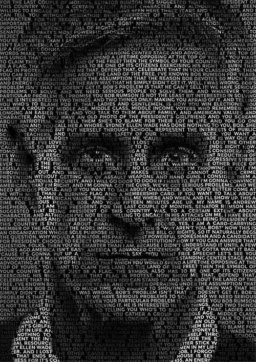 Typography portrait Adobe Photoshop Tutorial