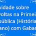 Atividade sobre Revoltas na Primeira República (História 9º ano) com Gabarito