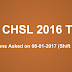 SSC CHSL 8 January Gk Questions asked on Shift 1 + Shift 2 (Memory Based)