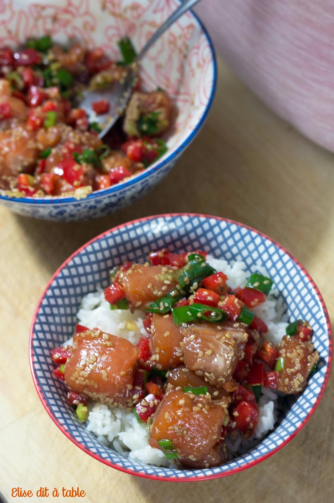recette Poké bowl saumon
