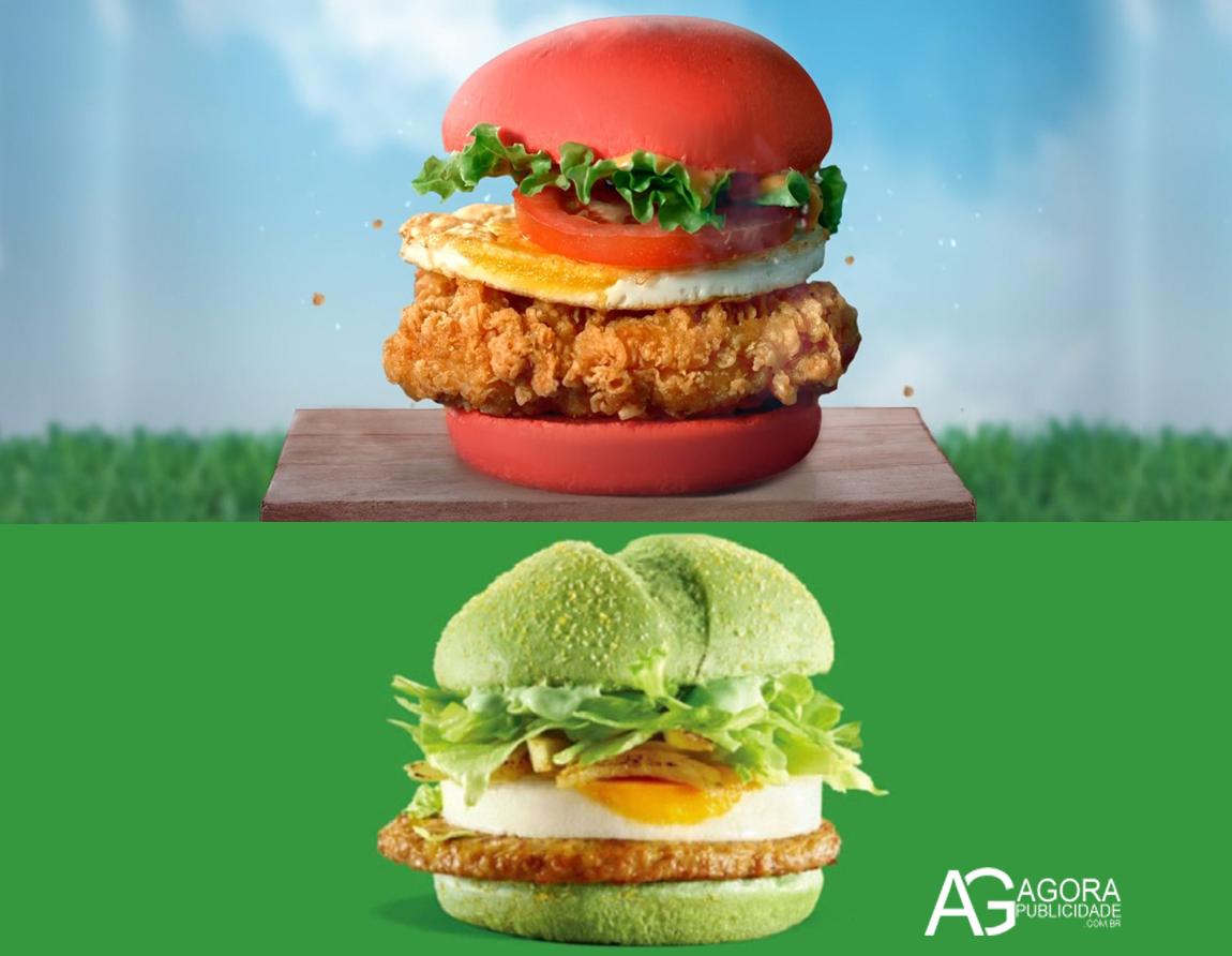 Para promover o Angry Birds McDonald's resolve colorir seus lanches