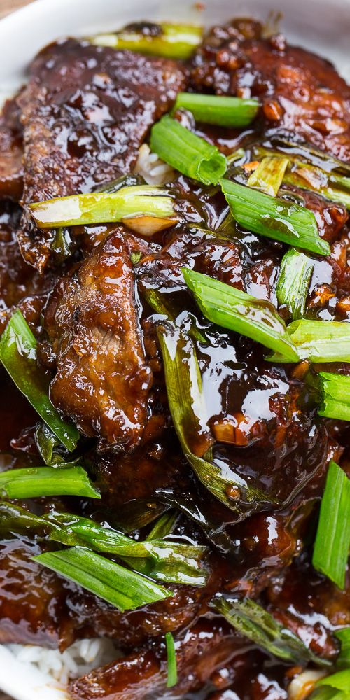 Homemade Mongolian Beef is so easy to make! Tender pieces of beef coated in a sweet and salty sauce. It's like beef candy!