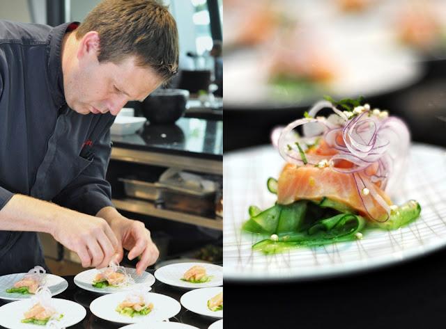 Hyatt Küchendirektor Thomas Hirt und Lachs