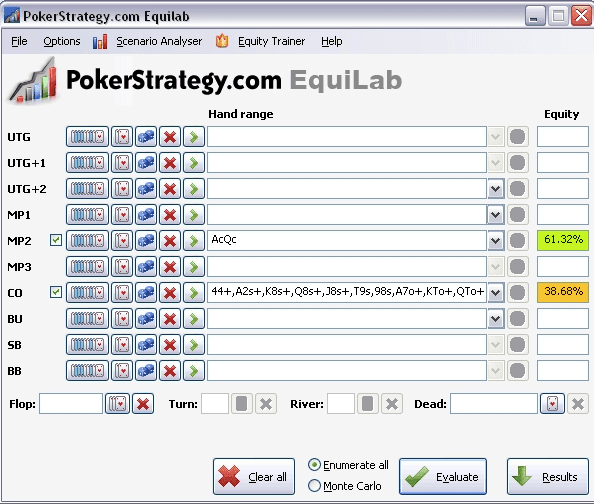 Best poker software pokerstrategy equilab