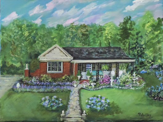 Shabby French Cottage: Painting & 20,000+ Likes