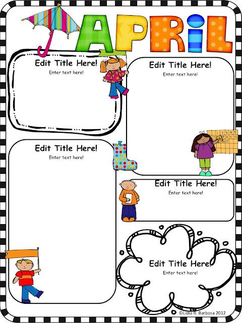 Kinder alphabet for Free april newsletter template