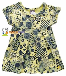 Vestido de moda infantil no atacado