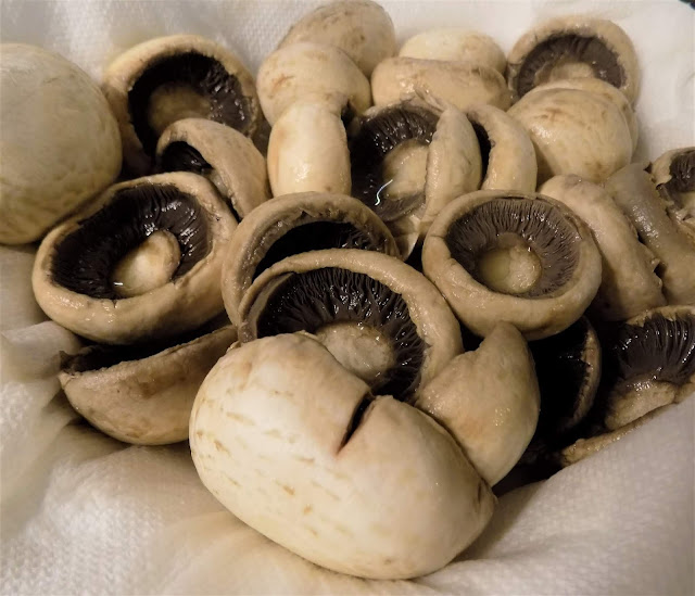 This is a picture of boiled mushrooms