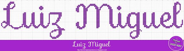 Nome Luiz Miguel em Ponto Cruz