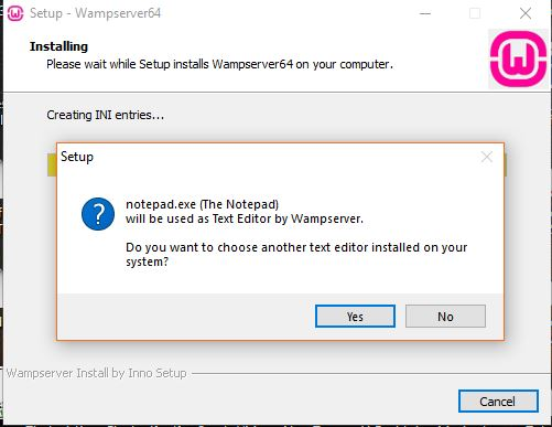default not editor for windows 10